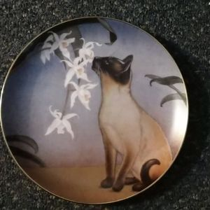 Vintage Danbury Mint Cats and Flowers Plate